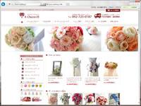 造花のブーケと手作りブーケキット、ヘッドドレスのお店