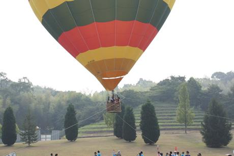 気球の搭乗体験
